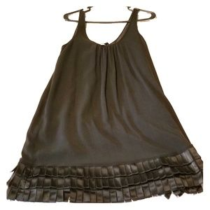 Burberry black shift dress